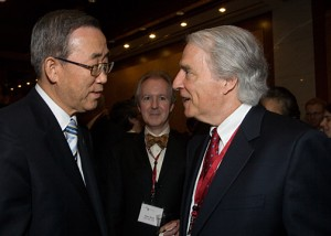 PAUL HODGE MEETING WITH THE HONORABLE BAN KI-MOON, UNITED NATIONS SECRETARY GENERAL