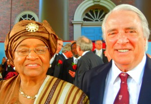 PAUL HODGE SOLO AROUND THE WORLD - PRESIDENT OF LIBERIA, ELLEN JOHNSON SIRLEAFI