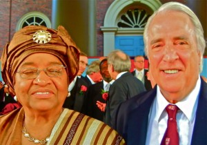 PAUL HODGE & ELLEN JOHNSON SIRLEAFI, PRESIDENT OF LIBERIA